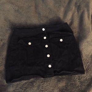Black Skirt (Button Up)